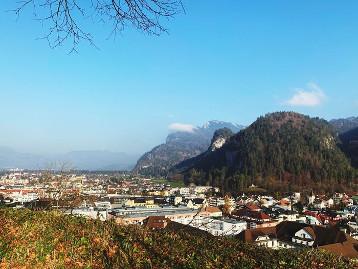 Autum in Austria Bestoftheday Enjoying Sun Friendsday Day Friends Castle Castle Of Kufstein Hiking Kufstein Sky Mountain Nature Tree Beauty In Nature Scenics - Nature Plant Land Landscape Day Architecture City Building Mountain Range Built Structure
