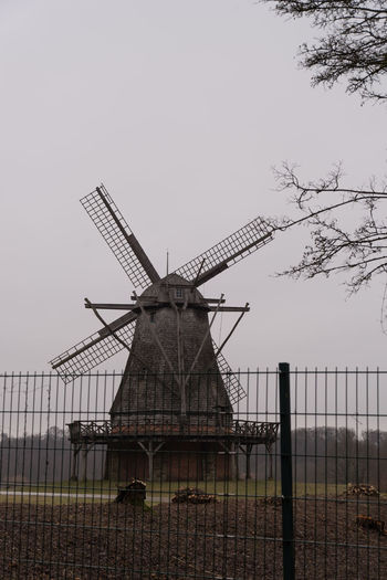 Melancholic Windmill Day Fence Melancholic Mi Museum Nature No People Outdoor Outdoors Twig Windmill Winter Wintertime
