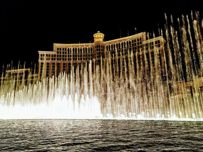 Fountains Show of Bellagio Las Vegas, USA🇺🇸 Water Travel Destinations City Travel Architecture Tourism Fountain Outdoors No People Sky Building Exterior Night United States Las Vegas VEGAS🎲 Vegas Nights Bellagio Fountains Bellagio, Las Vegas Bellagio Hotel At Night