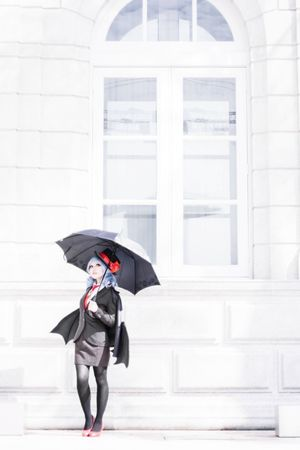 Remilia Scarlet Remilia Scarlet Touhou Project Cosplay Girl Portrait Singapore Mafia  Family Umbrella One Woman Only One Person People Well-dressed Outdoors Day Full Length Adult Vampire Mafia  Boss Family Sony Sonyalpha Alpha Sonyphotography Black And White Friday