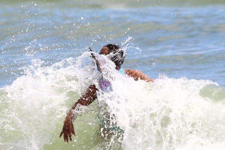 The fierceness of nature Carefree Fun Power In Nature Rippled Splashing Swimming Water Wet