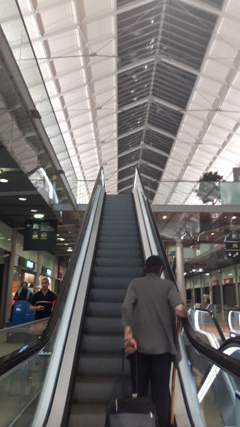 Architecture Photography Architecture_collection Ceilings Escalators Escalators And Staircases Galleries Platforms Station Station Architecture Train Station Gare Saint Lazare - Paris - France