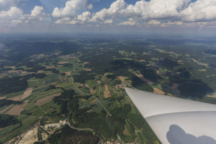 sailplane shot from above Betterlandscapes Summer View Fun Sunny Day GERMANY🇩🇪DEUTSCHERLAND@ The Way Forward EyeEm Best Shots Wanderlust Aerial View Air Vehicle Airplane Beauty In Nature Betterlandscapes Cloud - Sky Environment Franconia Germany High Angle View Idyllic Land Landscape Nature No People Outdoors Sailplane Scenics - Nature Sky Sky Gliding Tranquil Scene Transportation The Traveler - 2018 EyeEm Awards The Great Outdoors - 2018 EyeEm Awards My Best Travel Photo