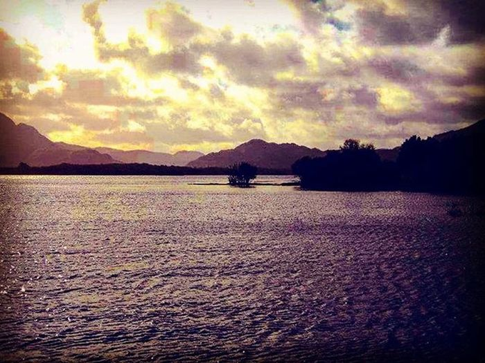 Killarneylakes Killarneylake Lake Killarney  Ireland Clouds Mountains