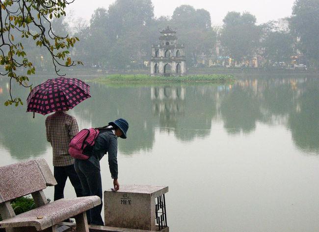 Hanoi Lake Lakeshore Leisure Activity Outdoors Pond Reflection Sword Lake Vietnam Water