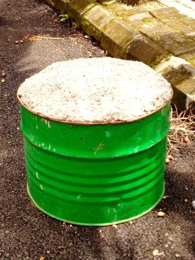cements in the drum oil Drum Drum Oil Green Drum Cement Cement, Concrete, Gray, Stone, Hard, Construction, Urban, Paving, Cement Mixer Cements Close-up Green Color