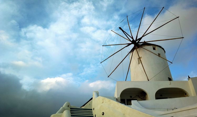 || Street Journals || Santorini, Greece. TheFoneFanatic Nokia  Nokia808 Vacations Mobilephotography PhonePhotography Scenics Streetphotography Colorful Evening Windmill Old-fashioned Sky Whitewashed Historic