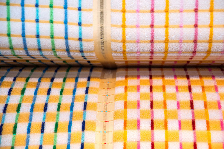 At the Toyota Commemorative Museum of Industry and Technology, Nagoya, Japan Backgrounds Blue Close-up Detail Fabric Loom Manufacturing Multi Colored Pattern Pink Color Tailored To You Textile Textile Industry Textile Machinery Weaving Loom Weaving Machine Ultimate Japan