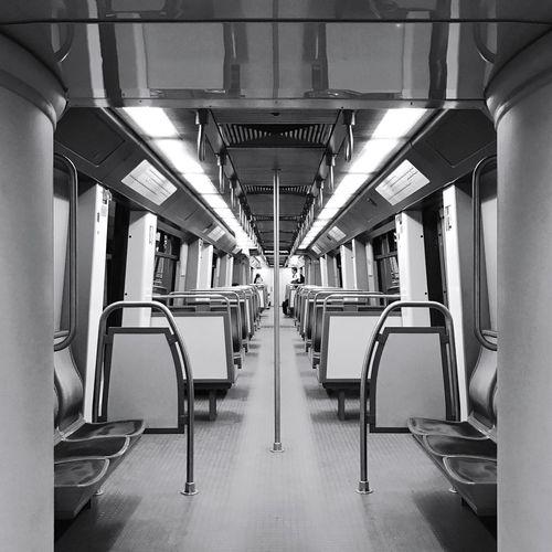 Interior Of Subway Train
