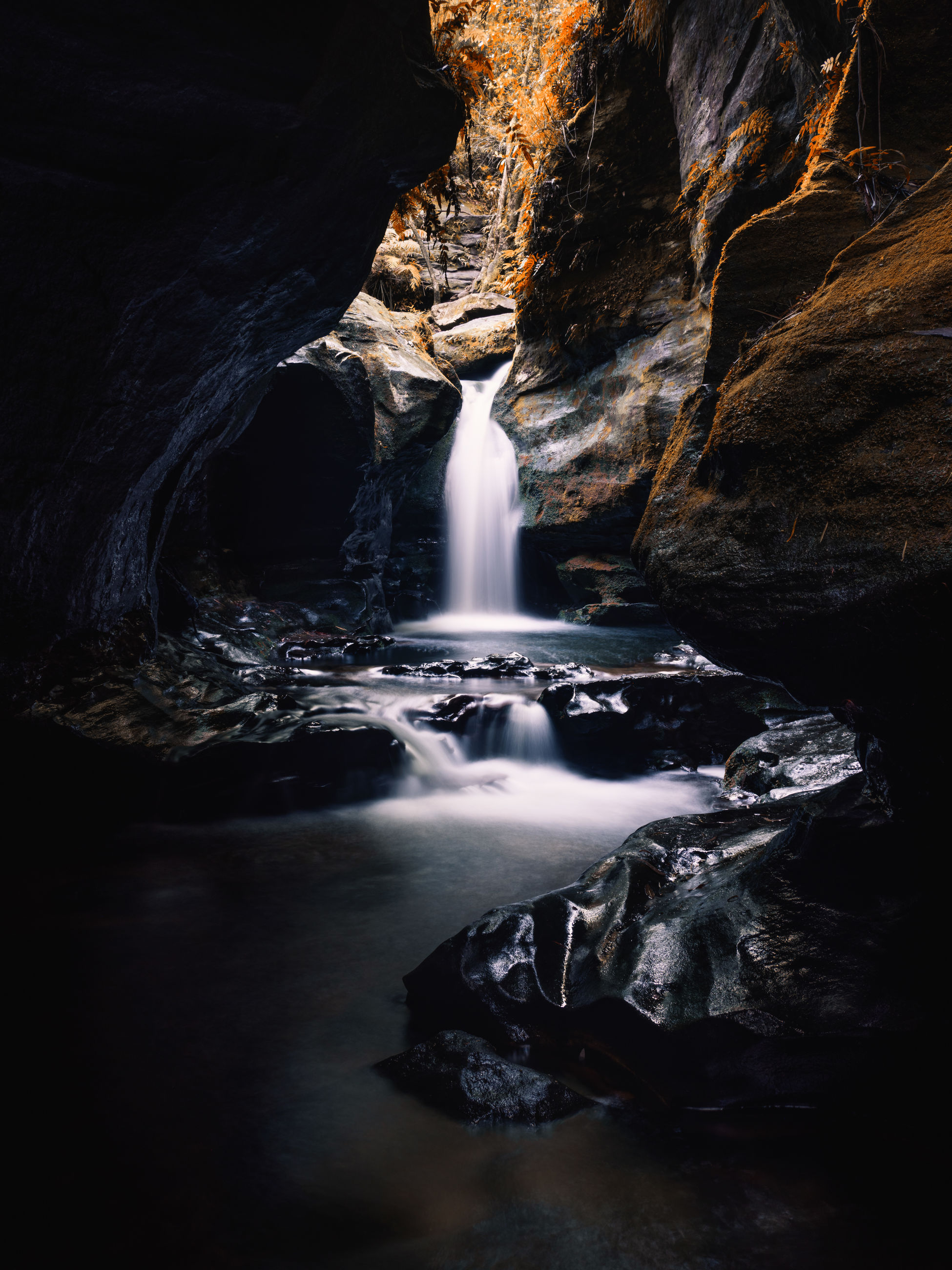 rock, rock - object, solid, water, rock formation, beauty in nature, scenics - nature, long exposure, waterfall, motion, nature, no people, flowing water, blurred motion, land, non-urban scene, travel destinations, day, flowing, outdoors, power in nature, eroded