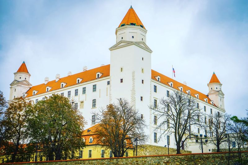 EyeEm Selects Architecture Travel Destinations Outdoors Building Exterior Castle Bratislava History Low Angle View