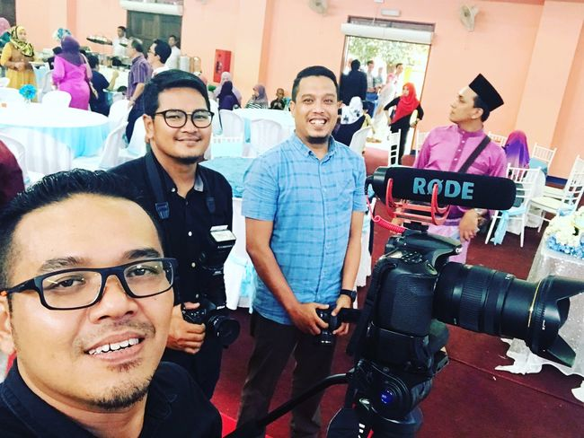 Having a great day of work !!!! Malaysian Wedding Photography Photographer Life Indoors  Mid Adult Men Eyeglasses  Smiling Adult Togetherness Teamwork People Cheerful