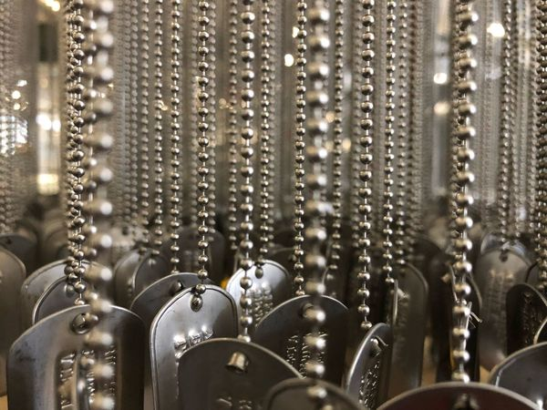 Silver Colored In A Row Full Frame Backgrounds Close-up