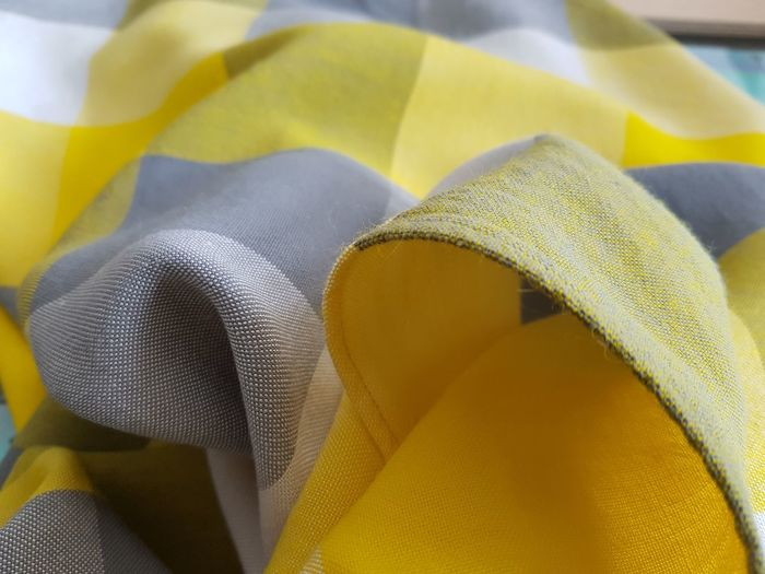 Close-up of yellow fabric