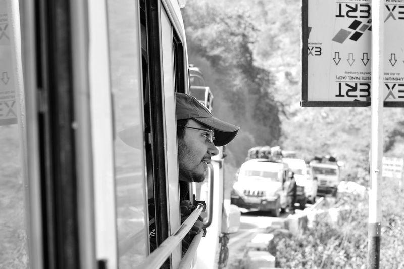 Scenics Beauty In Nature Scenics - Nature EyeEm Selects My Best Photo Tranquility Hikingadventures Blackandwhite Tranquil Scene Potrait India Land Vehicle Public Transportation Car Rail Transportation Railroad Track Locomotive Road Travel Bus