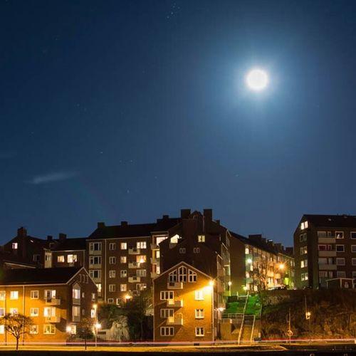 Nightphoto Night Moon Fullmoon karlskrona