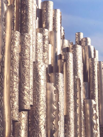 A close-up on the Jean Sibelius monument in Helsinki EyeEmNewHere Monument Installation Sibelius Sibelius Monument EyeEm Selects No People Built Structure Day Pattern Sunlight Architecture Sky Outdoors Close-up Metal Textured  First Eyeem Photo Architecture Sunlight Backgrounds History The Past Textured  EyeEmNewHere My Best Travel Photo
