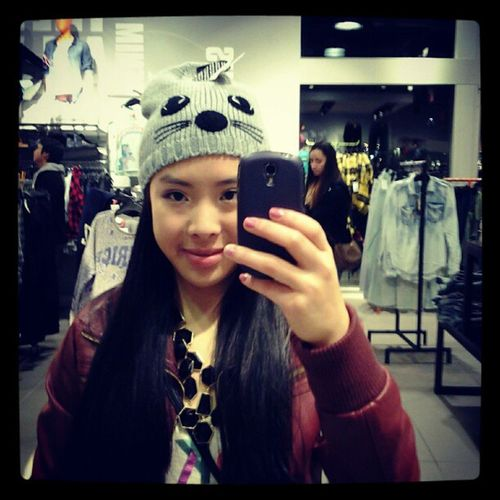 H &m Cat Hat Touque beanie ? dontknowthedifference ootd itchy