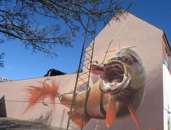 Tree Sky Street Art Building Mural My Best Photo