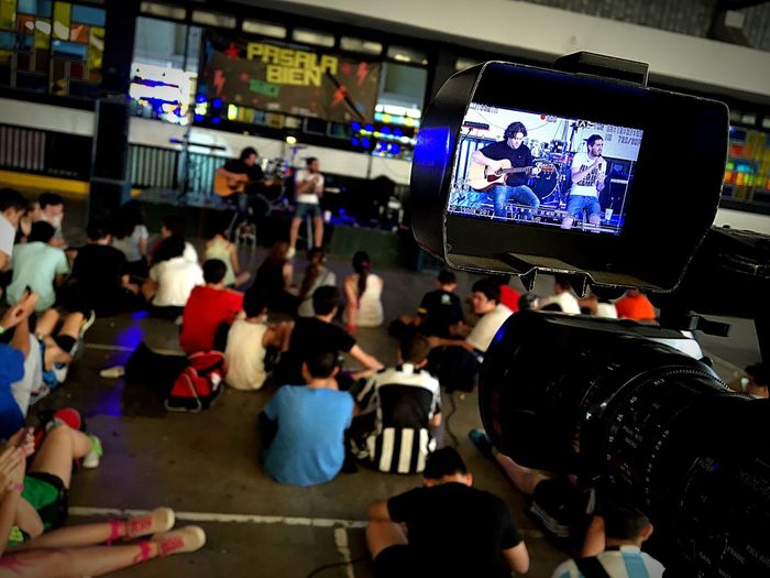 The Media Large Group Of People Crowd Spectator Technology Television Industry Men Liquid-crystal Display People Indoors  Watching Tv Adult Film Industry Adults Only