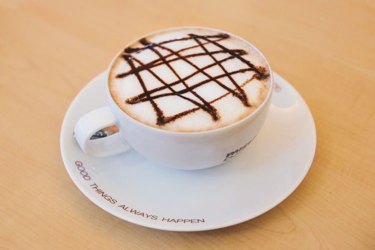 Cafe Cappuccino Close-up Coffee Coffee - Drink Coffee Break Coffee Cup Coffee Time Drink Food And Drink Freshness Froth Art Frothy Drink High Angle View Latte Quotes Refreshment Saucer Table