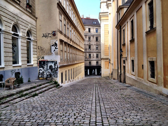 Alley Architecture City Cobblestone Diminishing Perspective Empty Historic No People Residential Building Vienna_city Walkway