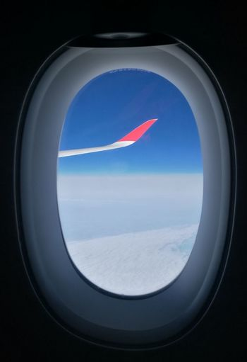 Airplane Air Vehicle Transportation No People Flying Travel Aerial View Close-up Day Nature Airpane Airplanewing Wings Wing Red Be. Ready.