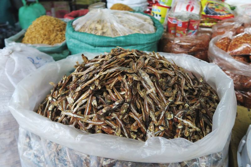 Close-up of crab for sale at market stall