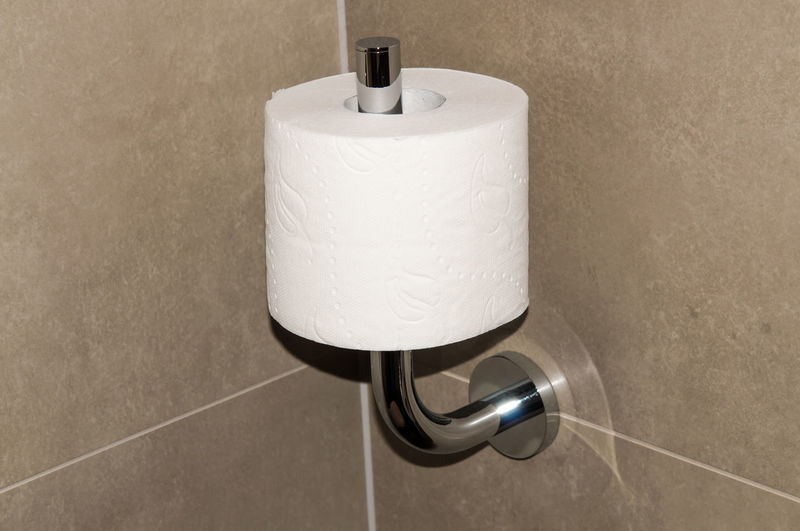 Close-up of toilet paper