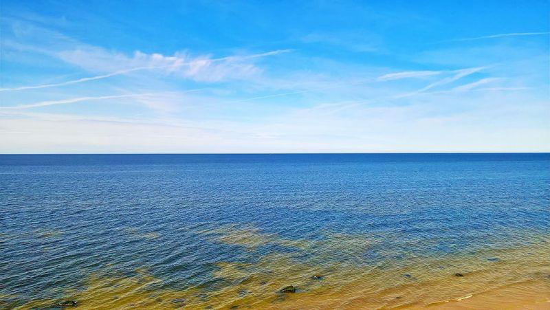 Beach Beauty In Nature Blue Cloud - Sky Day Horizon Horizon Over Water Idyllic Land Nature No People Non-urban Scene Outdoors Scenics - Nature Sea Sky Tranquil Scene Tranquility Water EyeEmNewHere Summer Exploratorium