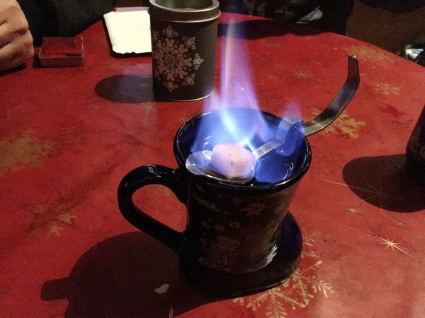 Food And Drink Close-up Heat - Temperature Table Drink Refreshment Burning Indoors  No People Freshness Day Feuerzangenbowle