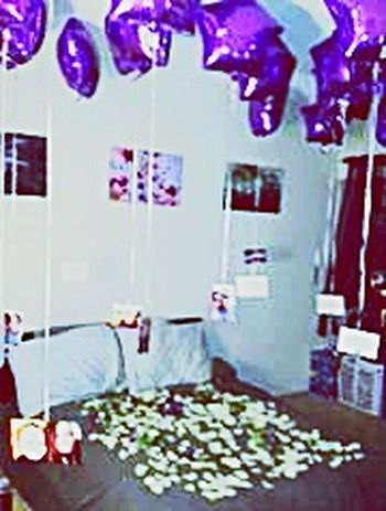 My Proposal Engagement Special Moment Nervous Happiest Day Of My Life She Said Yes! Surprise Balloons Pictures Tell A Story Memories Purple Roses Rose Petals