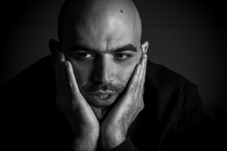 italian writer Roberto Saviano, in Rome, Italy, 2013. Denouncing Journalism Literature Mafia  Polemic Politic Saviano Writer