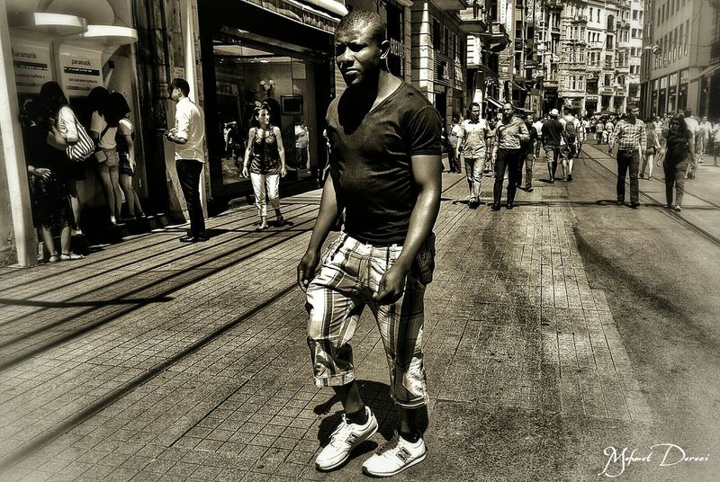 Boy Istiklal Caddesi Stree Photography Black & White