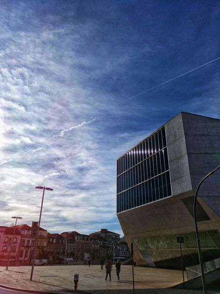 Cloud - Sky EyeEmNewHere EyeEm Best Shots EyeEm Eye Taking Photos Withphone Oporto Porto Portugal Casa Da Música Portugalcomefeitos Built Structure Sky Architecture Building Exterior Outdoors Day Real People People