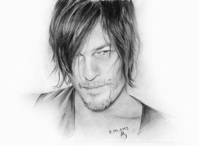 Art Norman Reedus My Picture Daryl Dixon