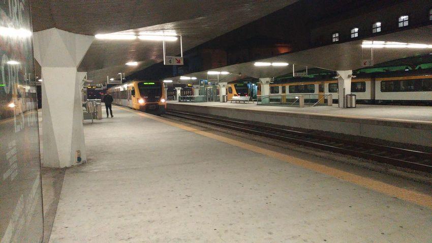 Illuminated City Railroad Station Platform Public Transportation Train - Vehicle Subway Train Rail Transportation Railroad Station Railroad Track