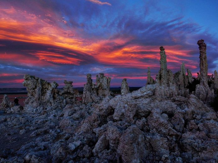 Spectacular sunset color ... Orange Sunset Monolake California Clouds Clouds And Sky Cloudscape Cloud And Sky