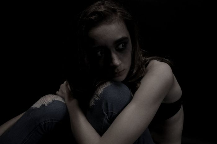 SocietiesStandards Depression - Sadness Skinny Thin First Eyeem Photo Black Background Studio Shot Creepy One Person