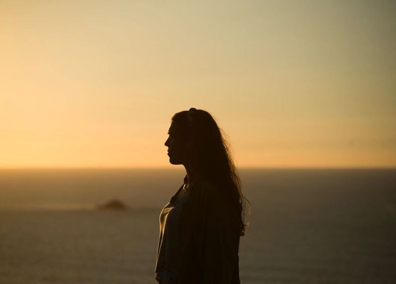 Sunset One Person Side View Silhouette Sky Standing Nature One Woman Only Only Women Leisure Activity Sea Women Outdoors People Beauty In Nature Adult Beautiful Woman Young Adult Horizon Over Water