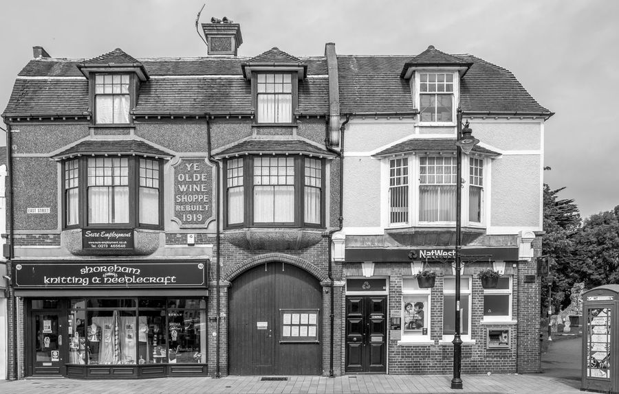Ye Olde Wine Shoppe, East Street, Shoreham by Sea, Sussex Architecture Shoreham-by-Sea FUJIFILM X-T2 Monochrome Photography Black And White Urban Architecture Wine Shop