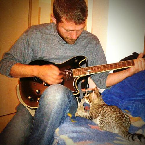 TakeoverMusic Cats 🐱 Katzen 💜 Blind Cat Guitar Music Listening To Music Seeing Without Eyes