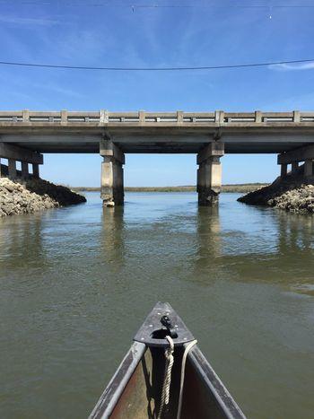 Creek Water Bridge Nature Sky Blue Sky  IPhoneography