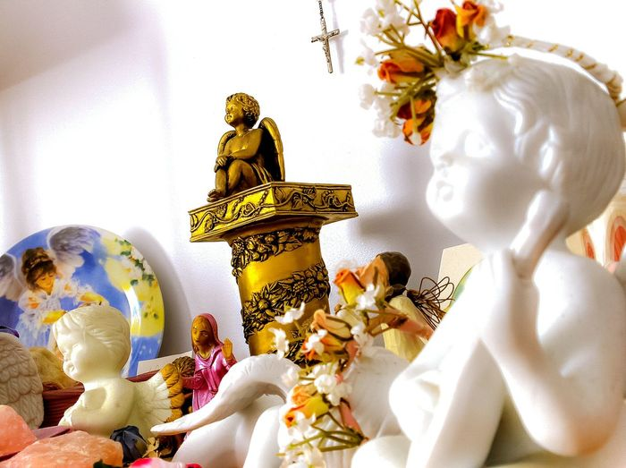 EyeEm Selects Religion Statue Spirituality Figurine  Sculpture No People Close-up Angel Wings Shrine