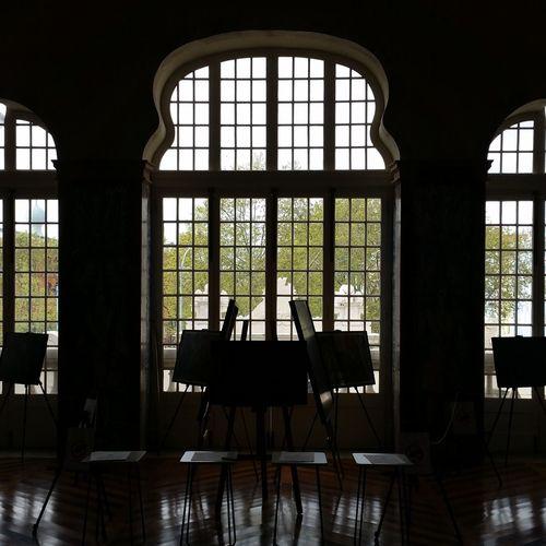 Lobby View Lobby Library Biblioteca Urbanphotography Architecture Lisboa Urban Geometry Chair Window Arch Historic Historic Building