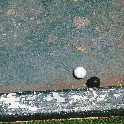 Its all black and white Golf Golf Ball Sport Ball No People Golf Course Outdoors Day Space Close-up Green - Golf Course Golf Club Putt Putt Mini Golf Black And White Love Where You Live Love My Life