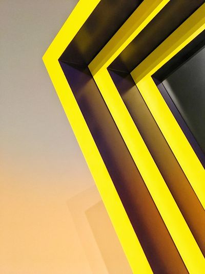 Angles And Lines Abstract Photography Abstract Minimalistic Minimalist Minimalobsession Minimalism Minimal The Week The Week on EyeEm Editor's Picks The Week on EyeEm Yellow Sign Full Frame No People Communication Symbol Pattern Backgrounds Striped 17.62°