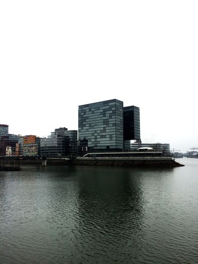 Water Afloat Architecture Bulding Germany Duesseldorf