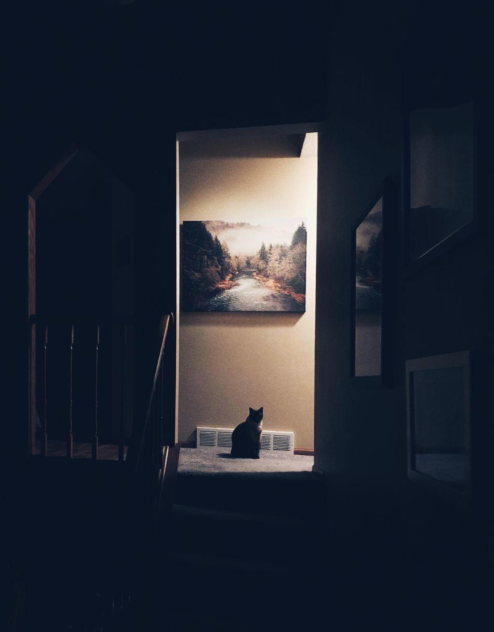 MAN SITTING AT WINDOW