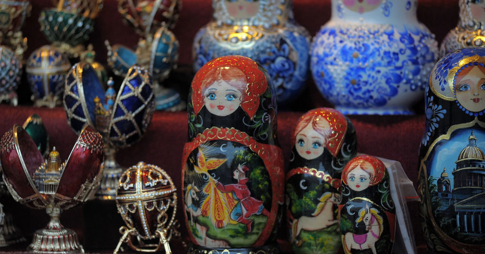 Close-up of souvenir for sale in market